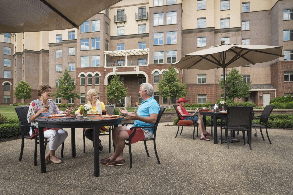 Providence Point offers al fresco dining