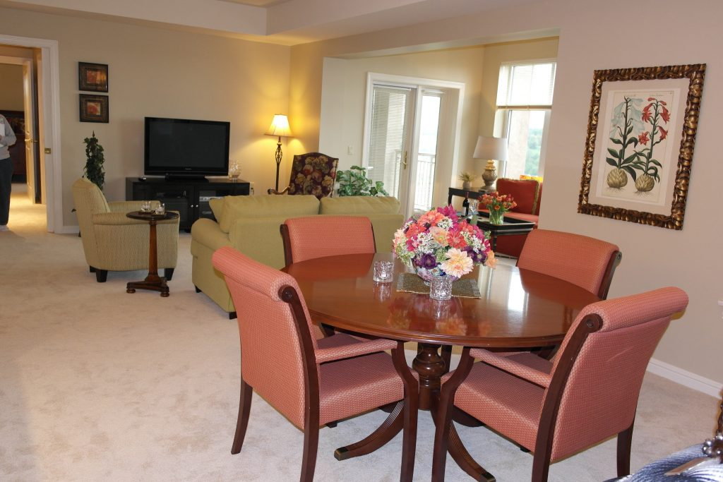 All apartments are spacious in the Providence Point Life Plan community